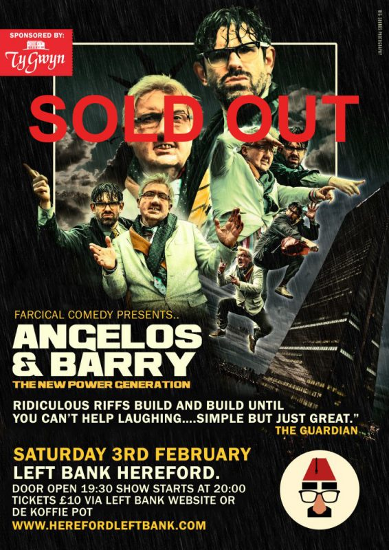Farcical comedy presents angelos barry sold out the for Farcical black comedy